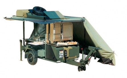 Field Catering   Diesel U0026 Multi Fuelled Cooking Equipment   Trailer Mounted  Kitchen FK2000   Hawkmoor Military Defence Catering Equipment